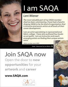 Artist Leni Wiener is SAQA.