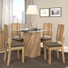 Furniture, Glass Dining Table, Room Design, Home Decor, Wood Chair Design, Dinning Table, Glass Dining Table Designs, Dining Chairs, Furniture Design