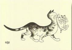les Chat par Albert Dubout!