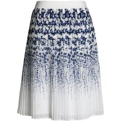 Canvas by Lands' End Women's Pleated Star Skirt ($125) ❤ liked on Polyvore featuring skirts, gonne, saia, pattern pleated skirt, knife-pleated skirts, pleated skirt, patterned skirts and knee length pleated skirt