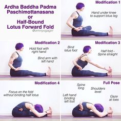 🌟 #AshtangaMondays 🌟 How to effectively modify Ardha Baddha Padma Paschimottanasana or Half-Bound Lotus Forward Fold - For all variations,…