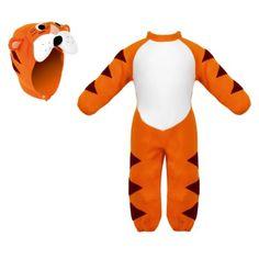 Un déguisement de tigre pour jouer seul ou avec les copains et imaginer de  nombreuses aventures. Pour développer l'imagination de vos enfants. A nettoyer avec une éponge humide.