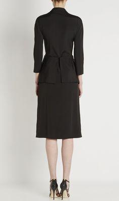 Balenciaga Eisa Black 1940's double breasted coat dress