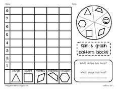 Students will sort, tally, and graph pattern blocks with these game sheets....