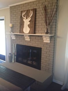 This Whole House: How to paint a brick fireplace