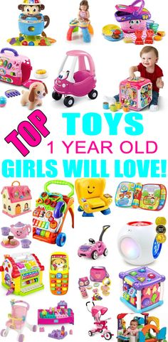 Top Toys For 1 Year Old Girls! Best toy suggestions for gifts & presents for a girls first birthday, Christmas or just because. Find the best gifts and toys for a girls 1st bday or Christmas. Find award winning, parent choice and learning toys. Get the best toys and gift ideas now!