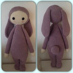 RITA the rabbit made by Trine J. / crochet pattern by lalylala