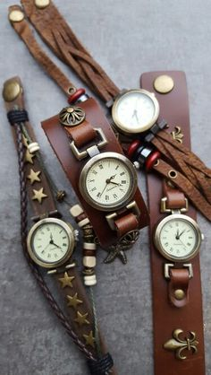 Formaflori Watch Vintage Watches, Germany, Leather, Accessories, Antique Watches, Deutsch