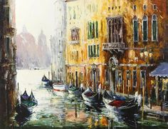 Venice Light by Gleb Goloubetski, Oil on Canvas, 100cmx130cm THIS PAINTING IS SOLD
