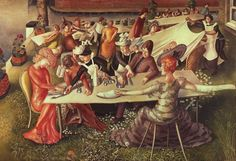 Stanley Spencer - Dinner on the Lawn