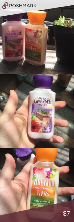 Bath and body works lotion The lavender and honey lotion is completely new, and the vineyard champagne is about 7/8 full Bath and Body Works Other