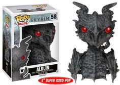 "Funko POP! Games Skyrim Alduin 6"" Vinyl Action Figure 58"