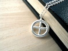 Sun Cross necklace - sterling silver Christian jewelry - original designed and crafted by Kristian Jessie Silver