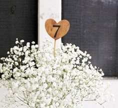 1 wood heart table numbers on a stick . table by MontanaSnow, $3.50