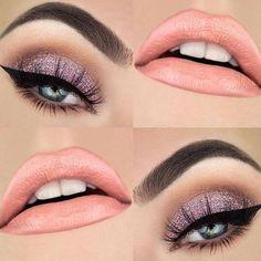 Miren esta maquillaje que hermoso!! Menciona a tus amigas #soyguapayculta #makeup #maquillaje