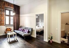 Apartamenty posiadają powierzchnię od 25 do 60m2 i składają się z: odrębnej sypialni, salonu z aneksem kuchennym lub kuchnią, łazienki.