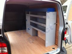 Vankit offers van racking and storage solutions for a diverse range of users and industries using modular components for a custom solution. Van Racking, Van Storage, T5, Camper Van, Van Life, Storage Solutions, Vans, Business, Ideas