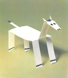 cheval Extreme Pets, Mythical Creatures, Crafts To Do, Paper Cutting, Preschool, Child, Pattern, Horse, Animaux