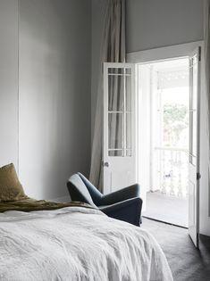 bedroom - french doors   flack studio