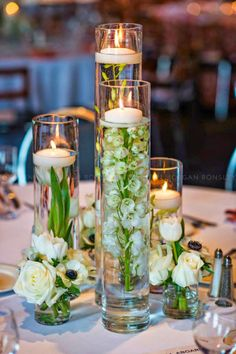 Wedding Flowers Ideas Center Pieces Wedding Decoration Ideas for Wedding Planning Guide from Ring to Finish Wedding Table Centerpieces, Floral Centerpieces, Ceremony Decorations, Floral Arrangements, Floating Candle Centerpieces, Wedding Vases, Centerpiece Ideas, Floral Wedding, Fall Wedding