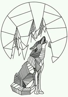 Howling Wolf Urban Threads: Unique and Awesome E… Heulender Wolf Urban Threads: Einzigartige und fantastische Stickmotive The post Heulender Wolf Urban Threads: Einzigartige und … appeared first on Frisuren Tips - Tattoos And Body Art Geometric Shapes Design, Geometric Drawing, Geometric Art, Geometric Animal, Geometric Wolf Tattoo, Design Loup, Wolf Design, Wolf Tattoos, Paper Embroidery