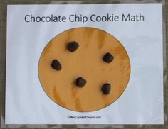 Cookie Math!  Play Dough Mat Busy Bag and Free Printable.