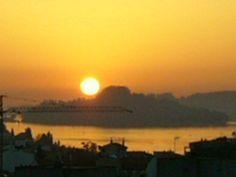 Puesta de sol en isla de Tambo: Rías Baixas, Pontevedra