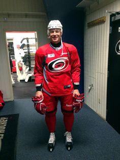 Semin, Bro!!!  Alex Semin prepares to take the ice at Raleigh Center Ice