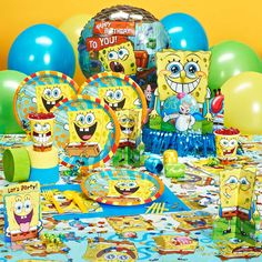 SPONGEBOB for Aiden's 3rd birthday? POSSIBLY SO! =]