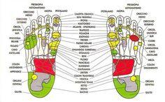 La riflessologia plantare e la mappa dei piedi all'origine del benessere
