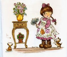 Sarah Key, Cute Images, Cute Pictures, Beautiful Pictures, Mary May, Susan Wheeler, Clown Party, Sweet Drawings, Vintage Drawing