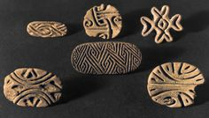 Stamp Seals, from Catal Huyuk, Turkey. Terracotta, Museum of Anatolian Civil.