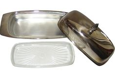 Silverplate Butter Dish ~ sold 99 dollars.
