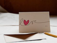 cute way to decorate a love note or card
