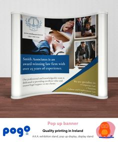 Our exhibition stands are lighweight, can be set up in a few minutes and include a handy carry case that makes it easy to transport and store Legal Support, Pop Up Banner, Banner Printing, Easy Peasy, It's Easy, Transportation, Vibrant, Knowledge, Range