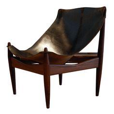 Amazing 1950's Illum Wikkelso Easy Chair , Denmark