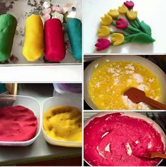 Picture of Recept - Romčalína - domácí modelína - lepší než playdoh 4 Kids, Art For Kids, Crafts For Kids, Play Doh, Icing, Pudding, Ethnic Recipes, Desserts, Model