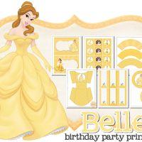 Belle Free Printable Kit.