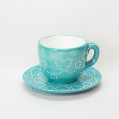 Green Tea Cups, Hand Painted Ceramics, Lead Free, Dish, Notes, Tableware, Painting, Food, Products