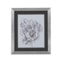 Bassett Mirror Silvery Blue Tulips I Framed Painting Print