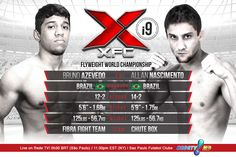 MAIN EVENT: WORLD CHAMPIONSHIP Men's Flyweight Superfight Bruno Azevedo 12-2 (BR) vs Allan Nascimento 14-2 (BR) - See more at: www.XFCMMA.com/xfci9  #XFCi9 #MMA #XFC #SaoPaulo #Brazil