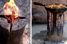 Gör upp eld med en stock - brinner i timmar