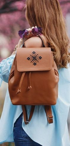 Iutta Brown Backpack | Milan Fashion Week FW | The Mysterious Girl
