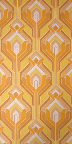 Flambeau   Geometric Wallpaper   Vintage Wallpaper   Johnny-Tapete