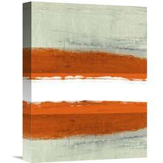 Naxart Studio 'Abstract Stripe Theme White' Stretched Canvas Wall Art