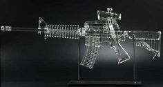 Life-Size Clear Glass Assault Rifle Pipes (Well, Bongs) | Geekologie