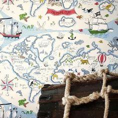 Sanderson Treasure Map (Engelska Tapetmagasinet)