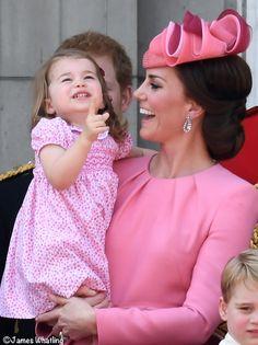 Kate Middleton Duchess Cambridge Princess Charlotte Trooping Colour
