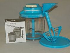 Tupperware NEW Power Chef Taffy Blue