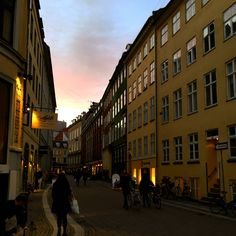 Copenhagen at dusk.